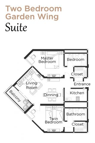 Layout Garden Wing Suite Two Bedroom