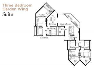Layout Garden Wing Suite Three Bedroom